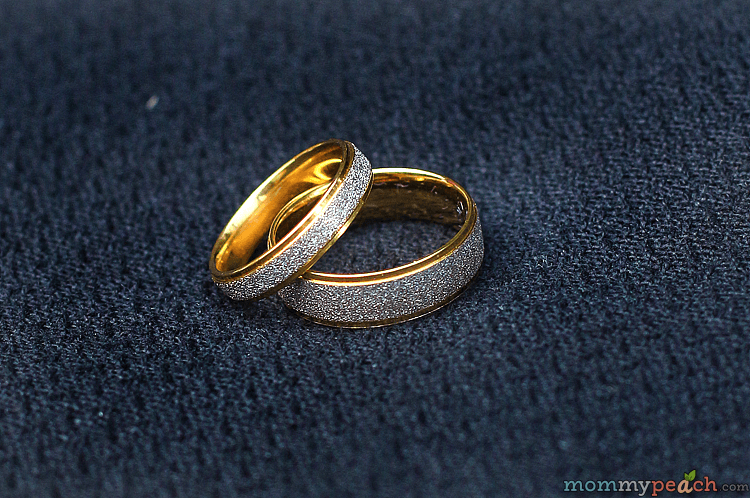 Two Tone Gold Plated Titanium Wedding Bands From Zoey.ph