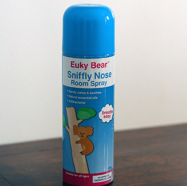 We love Euky Bear Sniffly Nose Room Spray + Giveaway