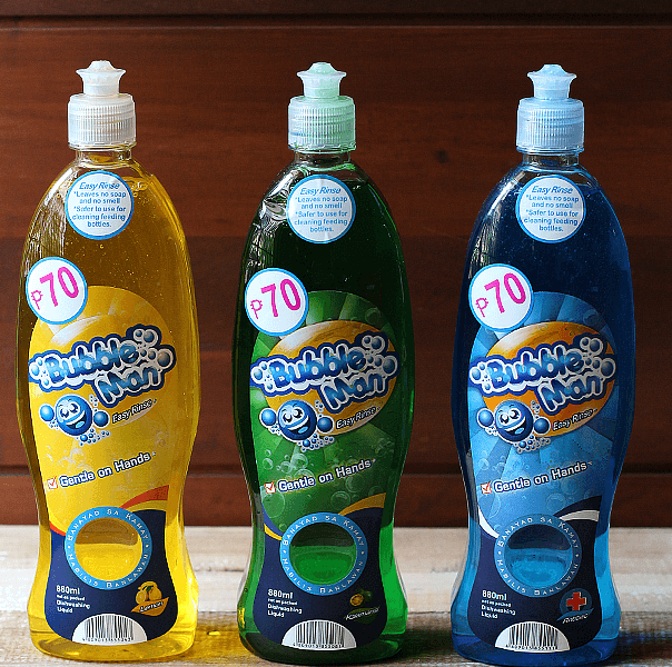 Have You Tried Bubble Man Dishwashing Liquid?