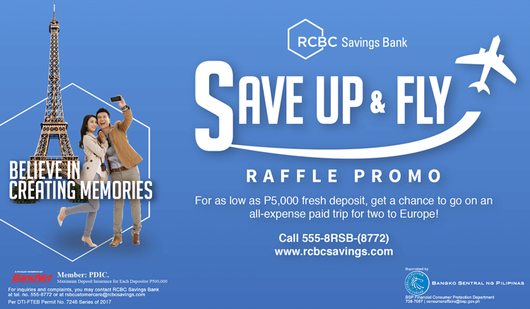Get Your Dream European Vacation with RCBC's Save Up and Fly Promo