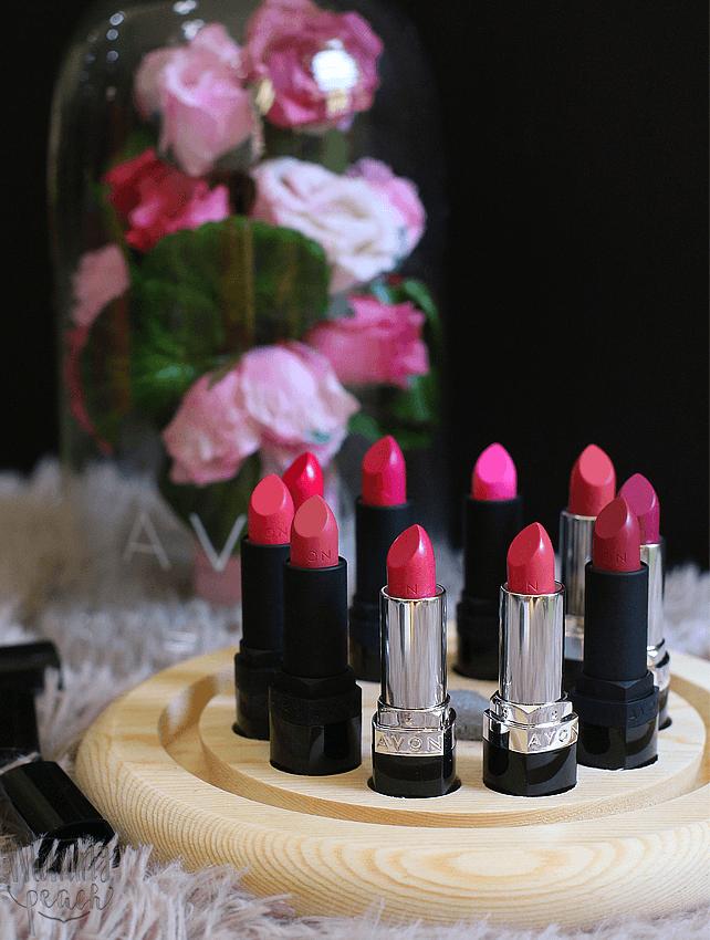 The 2018 Avon Pink Lipstick Selection