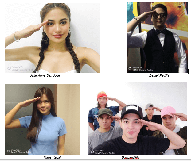 Selfie Salute: Vivo Local Endorsers Unite With The Brand In Support of Marawi Soldiers