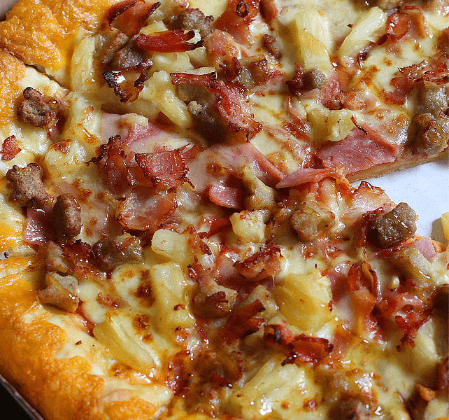 Meaty Hawaiian Supreme Sausage Stuffed Cheesy Crust Pizza