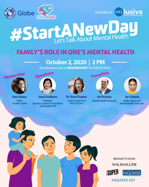 #StartANewDay Webinar : Family's Role in One's Mental Health